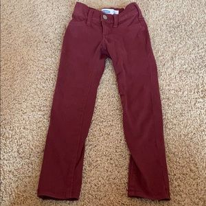 Old navy maroon jeans size 7
